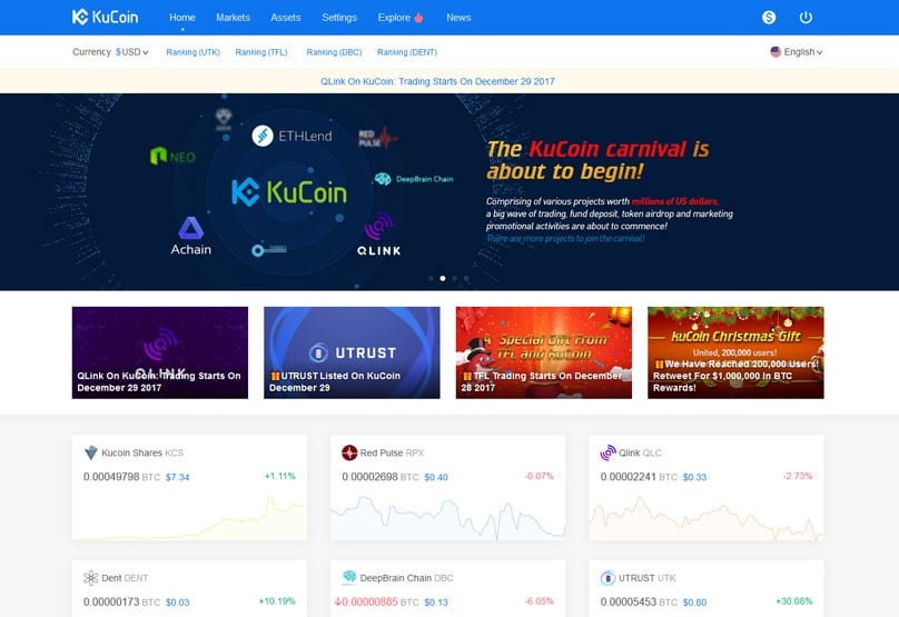 KuCoin, Kucoin – používateľsky príjemná multiburza