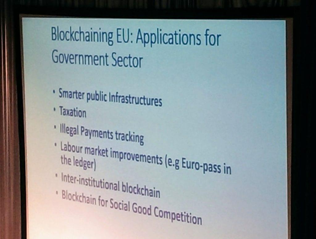 EP blockchaining EU