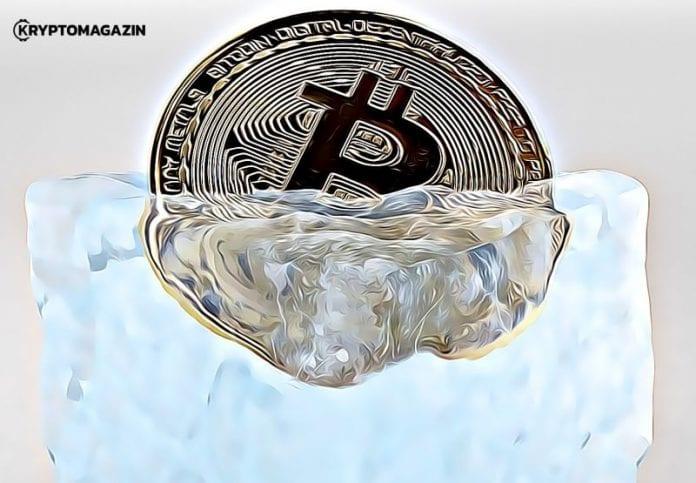 bitcoin zamrznutý