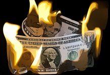dolar koniec smrt ohen