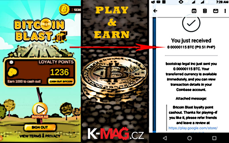 bitcoinblast coinbase gaming earn hry