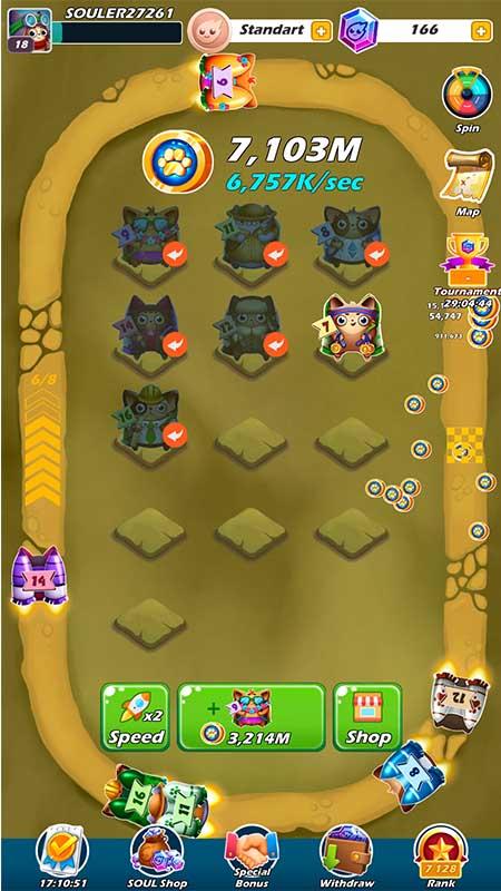 SOUL, [GAMING] Návyková hra, ktorá vás odmení kryptomenou SOUL? Inštalujte Merge Cats!