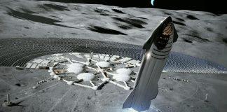 SpaceX Starship pristáva na Mesiaci