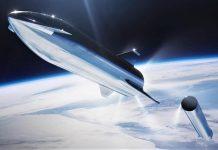 SpaceX Starship vo vesmíre