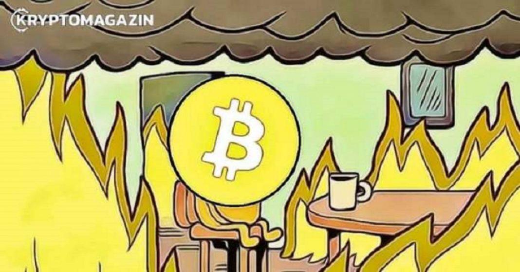 Bitcoin BTC fire
