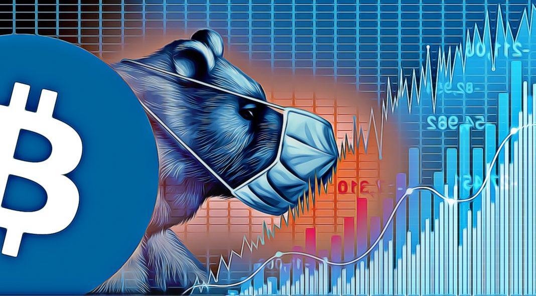 akcie padaju medved bitcoin koronavirus
