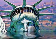 usa socha slobody ekonomika prepad kolaps