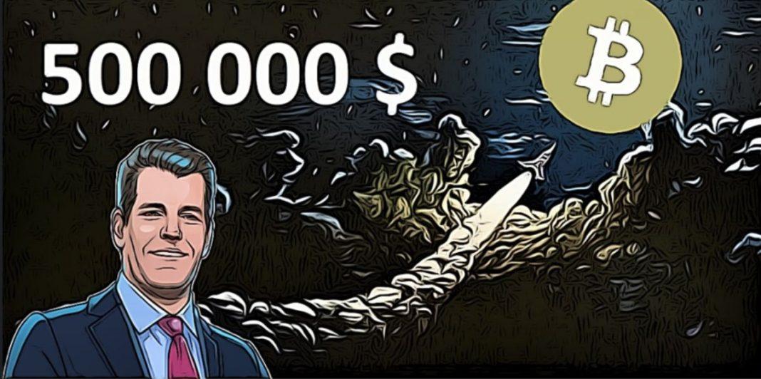 Tyler winklevoss bitcoin za 500 000 $