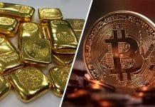 Bitcoin vs. zlato