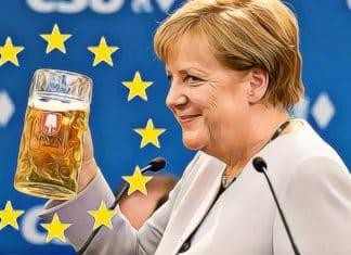 angela merkelova je stastna pretoze europske akcie rastu dax