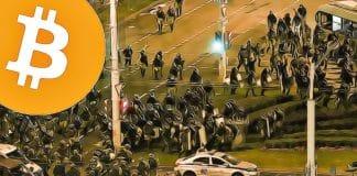 demonstracia v bielorusku a bitcoin za 13 000 $